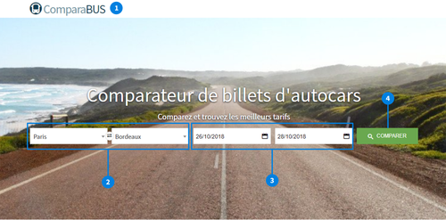ComparaBUS comparateur de bus France Europe fonctionnement