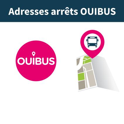 où se situent les points des arrêts de bus ?