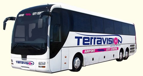 Terravision bus navettes aéroports Europe