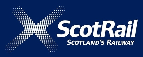 Logo ScotRail bus company UK
