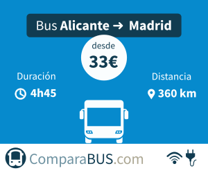 Bus económico alicante a madrid