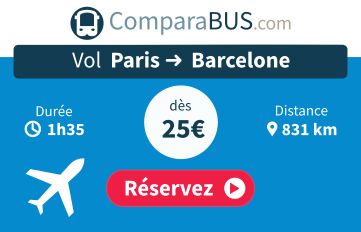 vol paris barcelone comparateur