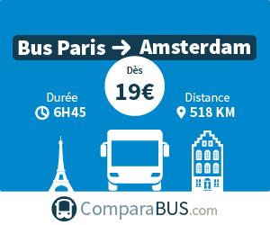 bus paris amsterdam pas cher d s 15. Black Bedroom Furniture Sets. Home Design Ideas