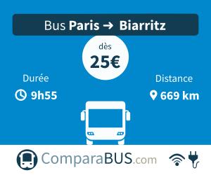 bus paris biarritz pas cher d s 10. Black Bedroom Furniture Sets. Home Design Ideas