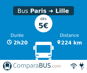 Bus paris lille pas cher d s 5 for Comparateur hotel paris pas cher