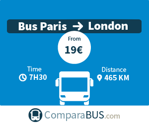 cheap bus paris to london