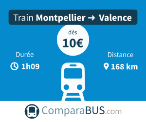 Train montpellier valence pas cher