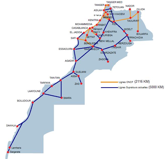 Compagnies De Bus Au Maroc CTM SupratoursTrans Ghazala