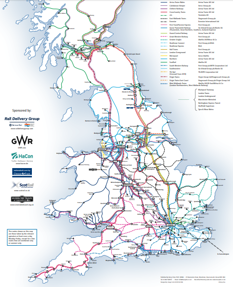 train routes coach map network UK destinations