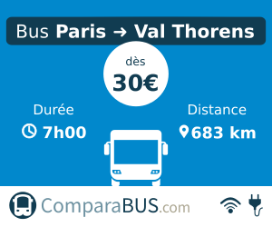 bus Paris Val Thorens pas cher